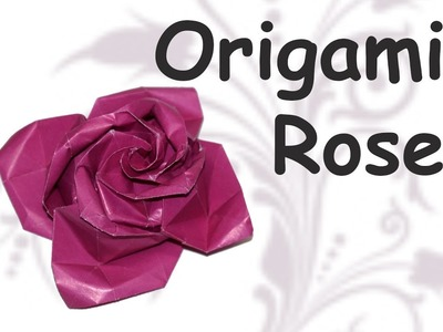 DIY crafts How to make origami ROSE. DIY beauty and easy