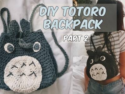 DIY CROCHET TOTORO BACKPACK PART 2