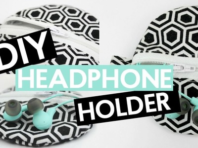 DIY EARPHONE HOLDER | EASY SEWING TUTORIAL