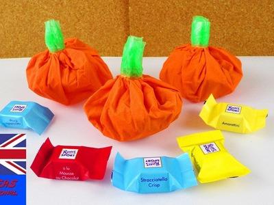 DIY Halloween Candy Bag   Make your Own Mini Pumpkin   Super Easy Part Idea   Fun