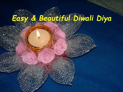 DIY-how to make beautiful decorative candle.diya for diwali at home in just 5 min