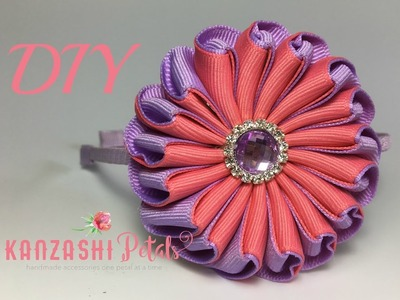 DIY Infinity ribbon flower. one piece ribbon flower tutorial