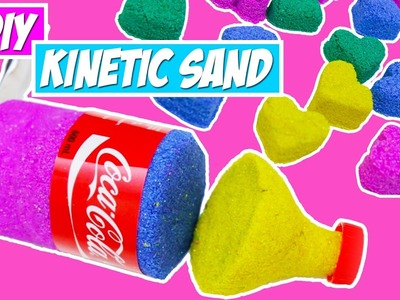 DIY KINETIC SAND! MAKE COKE BOTTLE AND SHAPES EASILY!