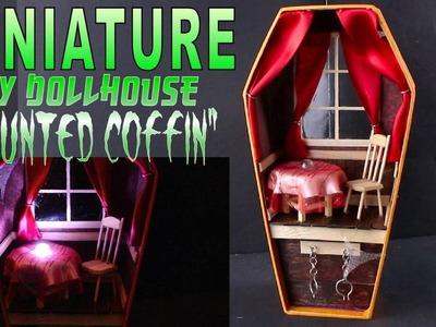 "DIY Miniture Dollhouse ""Haunted Coffin"" for Haloween OOAK"