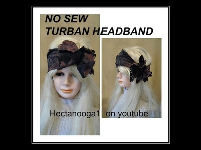Diy, NO SEW TURBAN STYLE HEADBAND, recycle, repurpose, upcycle, use an old tshirt