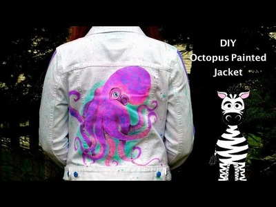 DIY Octopus Painting on a Jacket | How to Paint Clothing