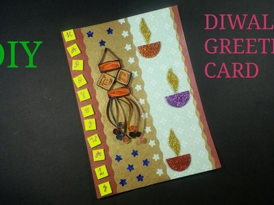 DIY# PAPER QUALLING DIWALI GREETING CARD. HOW TO MAKE.CWM# 12