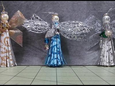 DIY~Sweet, Easy & Beautiful Paper Tassel Angel Ornaments!