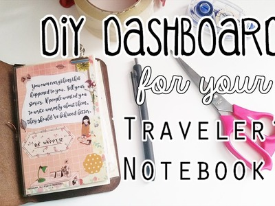 DIY Traveler's Notebook Dashboard Tutorial