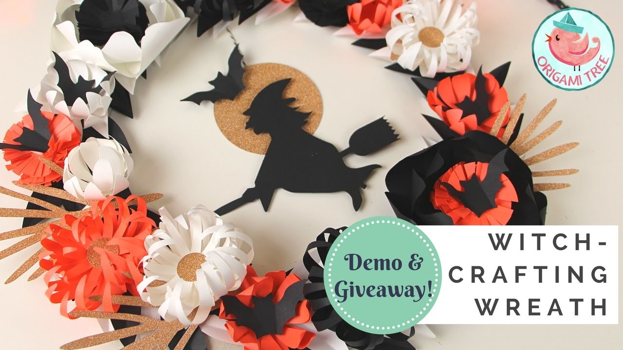 GIVEAWAY & DEMO!! Witch-Crafting Wreath Kit by Paper Source   How to Make A Wreath for Halloween