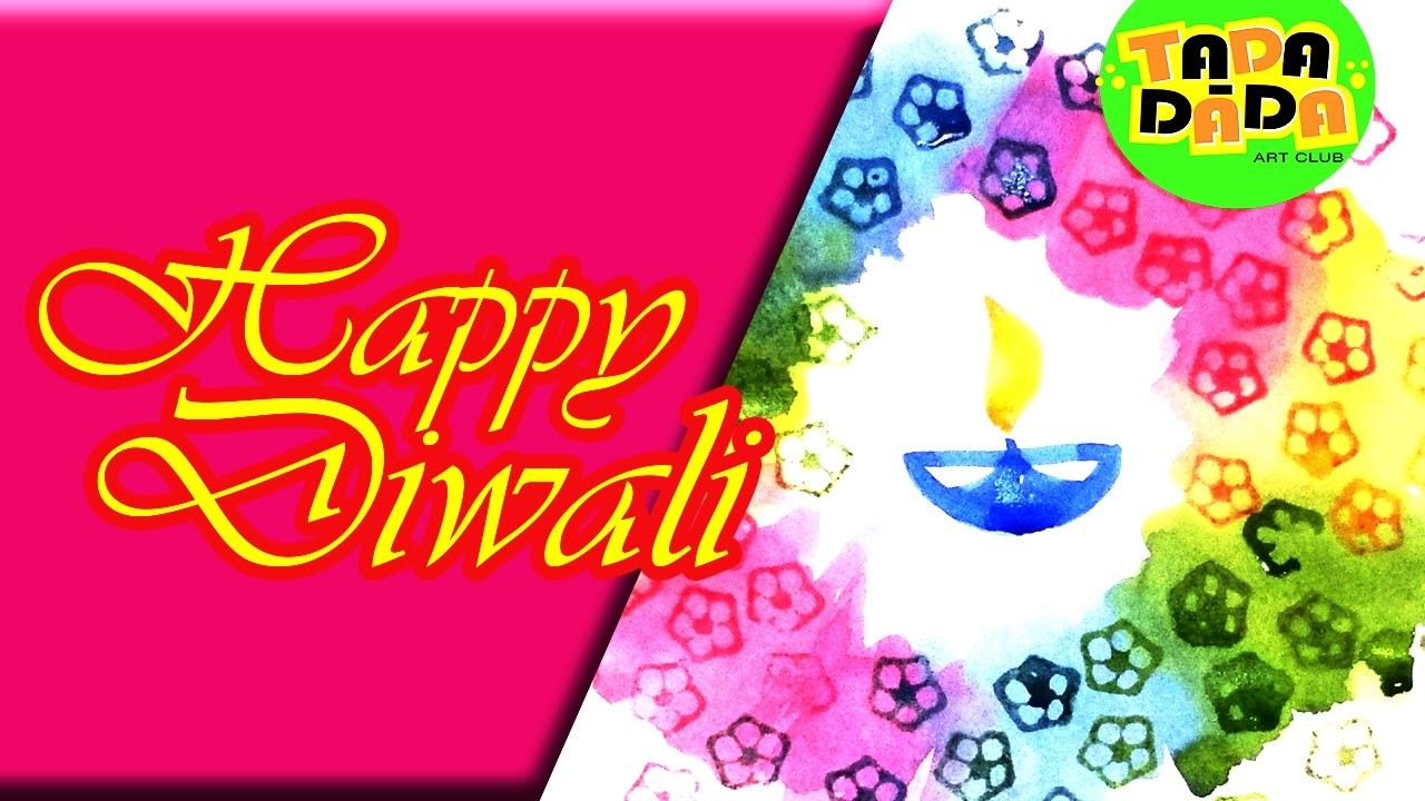 Happy diwali l how to make an easy diwali card diwali greeting card happy diwali l how to make an easy diwali card diwali greeting card kids drawing 2016 m4hsunfo