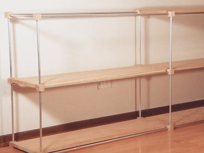 How I made a lightweight modular shelf from aluminum tube and pine boards