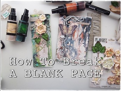 How to Break A Blank TEXTURE Page Mixed Media Art Journaling part6