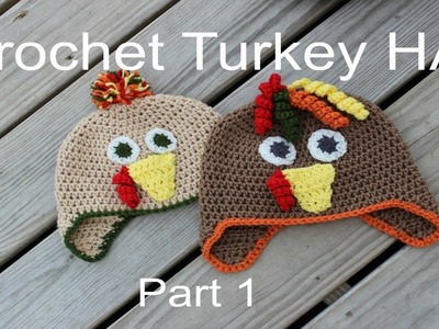 How To Crochet A Turkey Hat PART 1