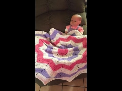 How To Crochet The Round Ripple Baby Blanket