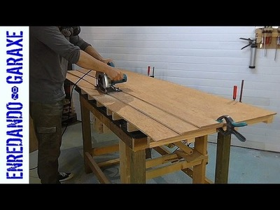 How to cut a plywood board using the rip fence jig