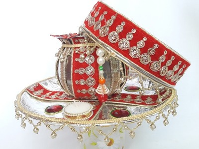 How to Decorate Karwa Chauth Thali, Chhalni aur Karva   Karwa Chauth 2016