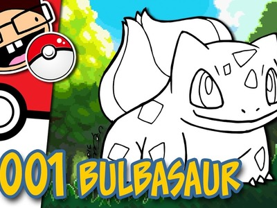 How to Draw #001 BULBASAUR | Narrated Easy Step-by-Step Drawing Tutorial | Pokemon Drawing Project