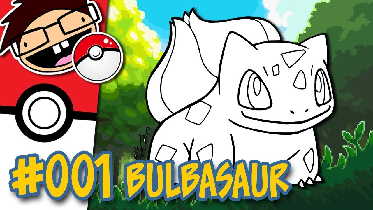 How to Draw #001 BULBASAUR   Narrated Easy Step-by-Step Drawing Tutorial   Pokemon Drawing Project