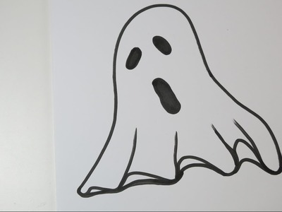 How to Draw a Ghost. Easy Drawing Ideas for Halloween