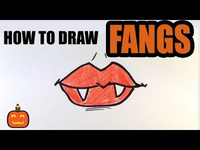 How to Draw Fangs (2) - Halloween Drawings
