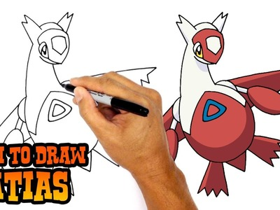 How to Draw Latias (Pokemon)- Art Lesson for Kids