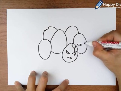How to Draw Pokemon Exeggcute Step by Step