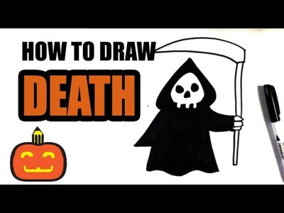 How to Draw the Grim Reaper - Halloween Drawings