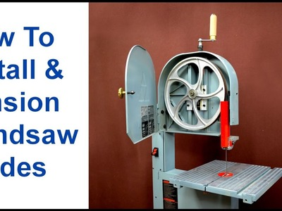 How to Install and Tension Bandsaw Blades