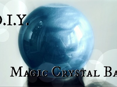 How to make a Fortune Teller's Crystal Ball. DIY Halloween Prop. The Magic Crafter