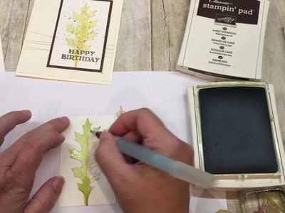 How to make a gorgeous Faux Watercolored Fal Leaf Card using Stampin Up's Vintage Leaves stamp set