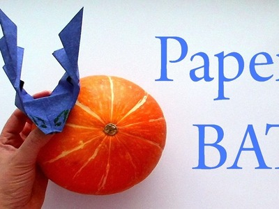 How to make a paper bat? Origami bat for children