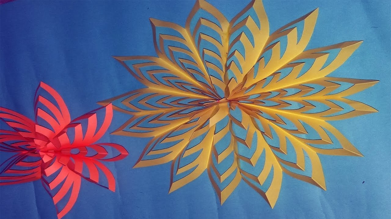 How to Make a Paper Snowflake Easy, Easy Paper Snowflakes Tutorial