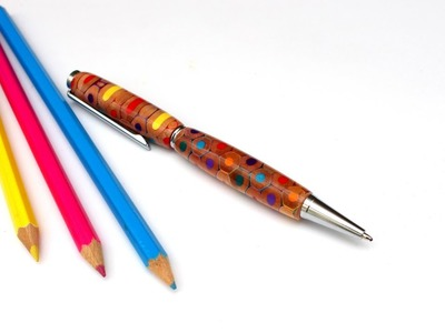 How To Make A Pen With Coloured Pencils