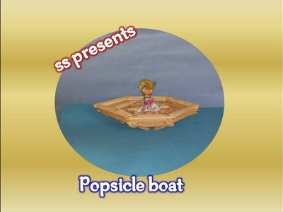 How To Make a Toy  Boat using  Popsicle Sticks.Ice stick boat