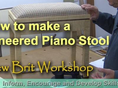How to make a veneered piano stool
