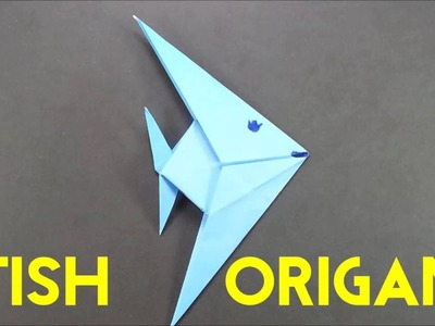 How To Make An Origami Fish - Easy Paper Fish Tutorial for Beginners