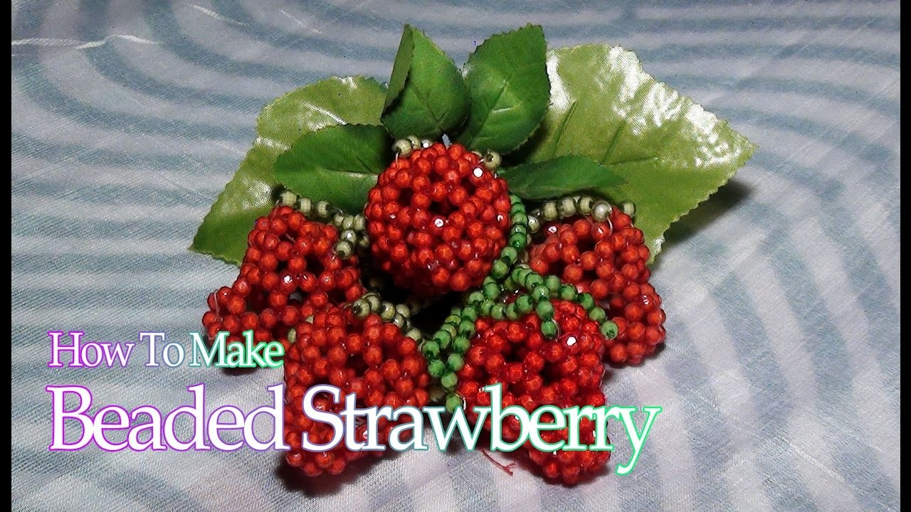 How to make Beaded strawberry | strawberry from beads | Strawberry with beads| Creative Art Ideas