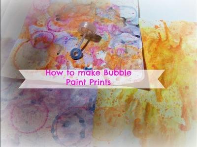 How to make bubble paint prints. how to bubble paint. DIY Bubble Paint