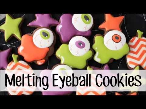 How To Make Decorated Melting Eyeball Sugar Cookies