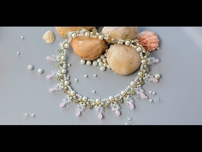 How to Make Delicate Beading Choker Necklace for wedding