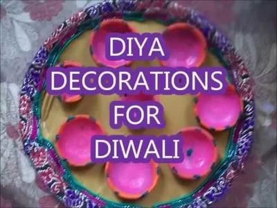 How to make diya decoration for diwali.make in 5 minutes at home