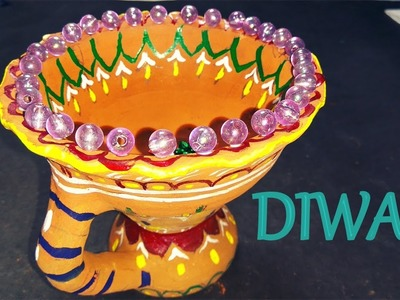 How To Make:Diya Decoration Ideas For Dipawali(DIY Home Decore) 2016