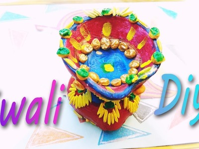How To Make:Diya Decoration Ideas For Dipawali(DIY Home Decore) 2016