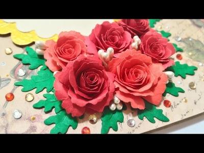 How to make MFT Die-namics Mini Royal Roses