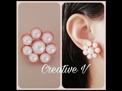 How to Make Quilling Stud Earrings.Design 7.Tutorial