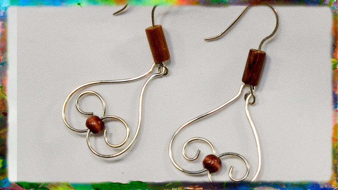 """How to Make Simple Earrings"""