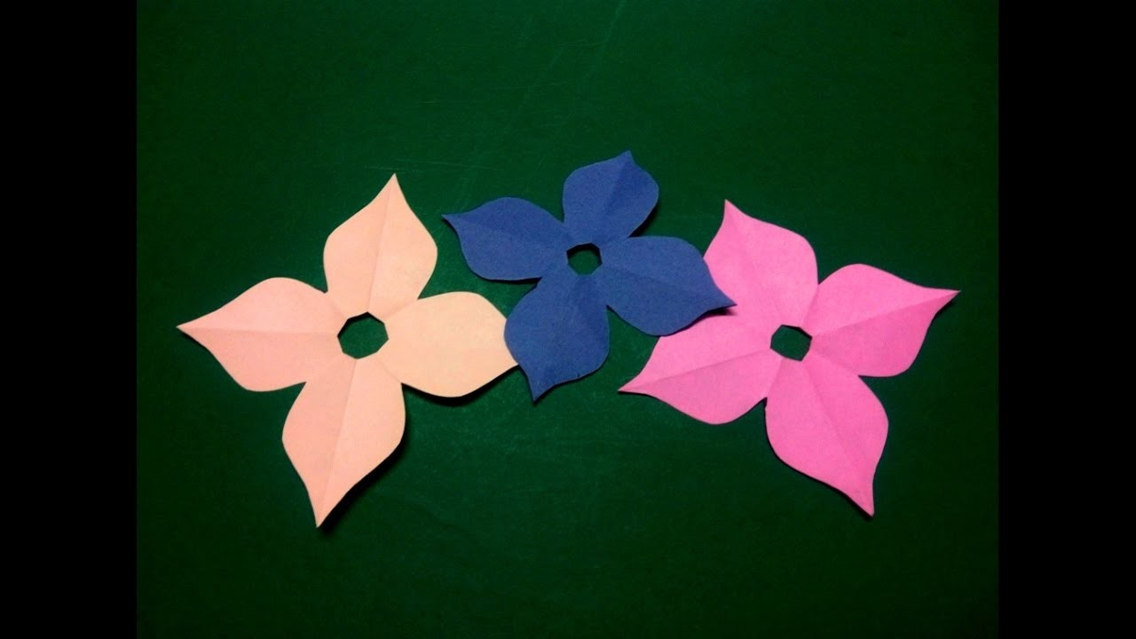 How To Make Simple Easy Paper Flower 4 Kirigami Paper Cutting