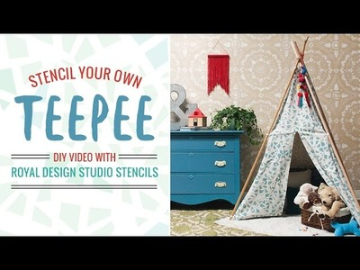 How to Stencil a Teepee Tent Tutorial - DIY Kids Crafts Idea