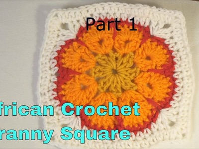Lets Make a Crochet African Granny Square Part 1 Blanket Simple Crochet